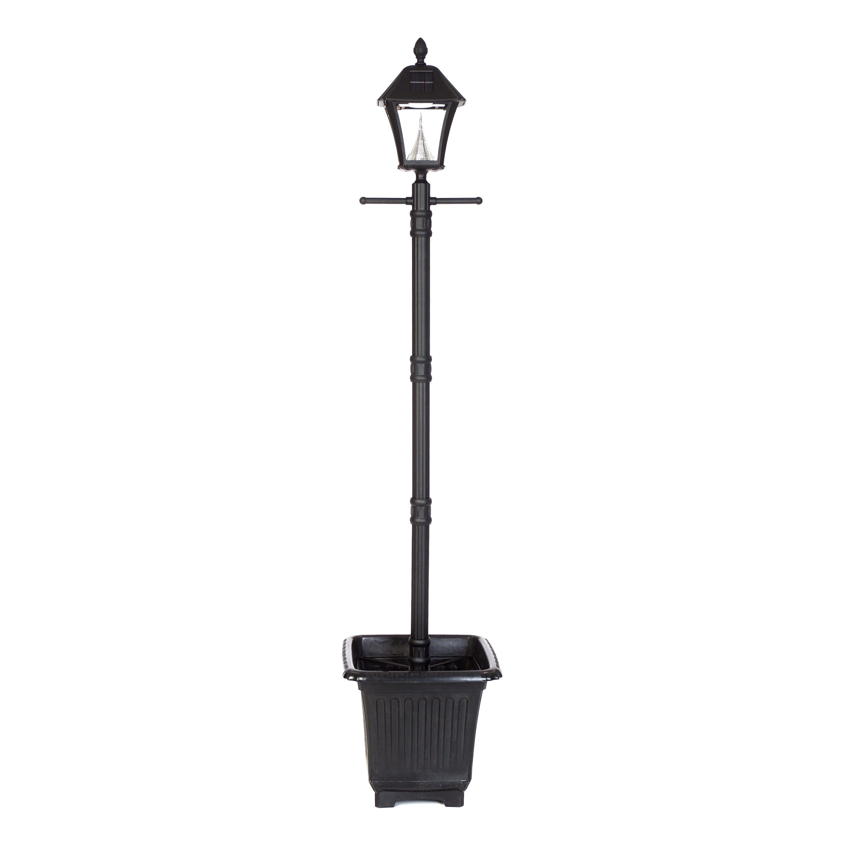 Gama Sonic GS-106PL Baytown Black Post Solar Lamp with 6 ...