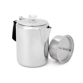 GSI Outdoors Glacier Stainless Silicone Handle 12-cup Percolator