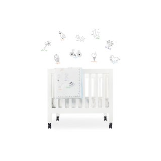 Babyletto Fitted Mini Crib Sheet in Alphabets