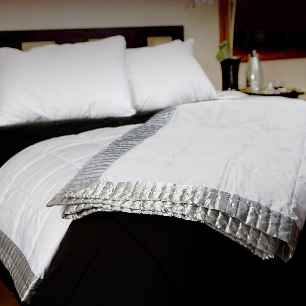 CozyClouds by DownLinens Geometric Satin Blanket