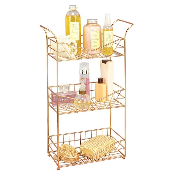 Three Tier Bathroom Stand: Shop Sunrise Rose Gold 3-tier Bathroom Storage Rack