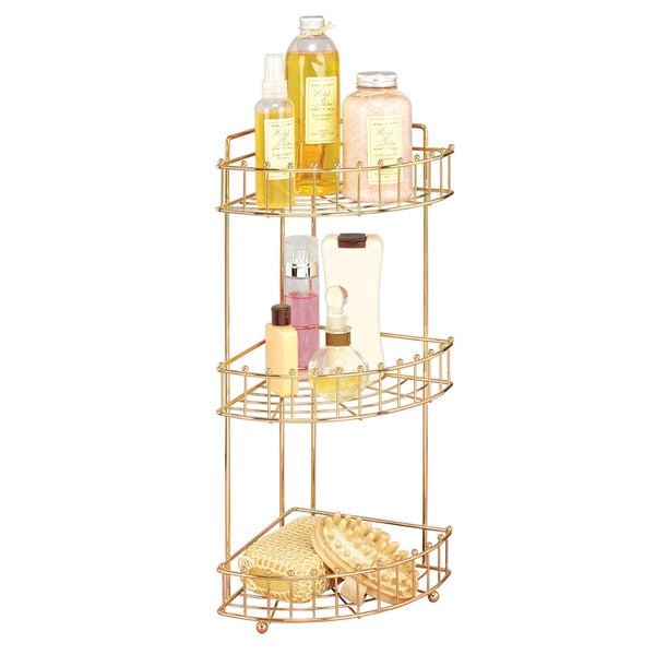 Balljoint Rose Gold 3-tier Corner Rack