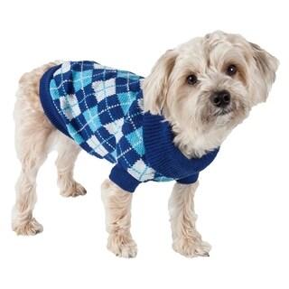 Argyle Ribbed Fashion Pet Sweater (3 options available)