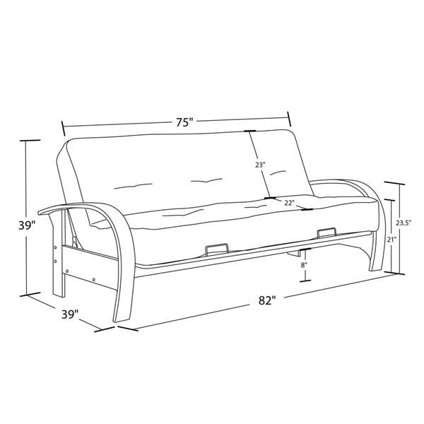 Dhp Madrid Futon Full Size Sofa Sleeper Free Shipping Today Com 16302895