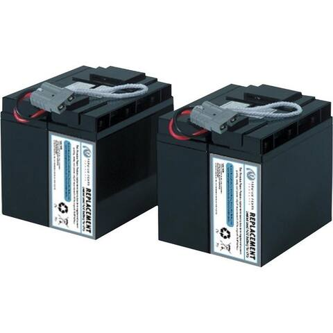 eReplacements Compatible Sealed Lead Acid Battery Replaces APC SLA55, APC RBC55, for use in APC Smart-UPS DLA2200, SMT2200, SMT