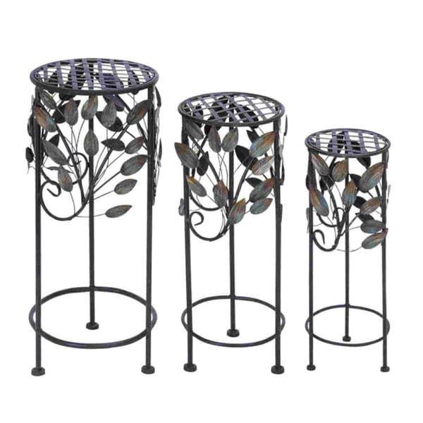 Round Metal Plant Stand (Set of 3)