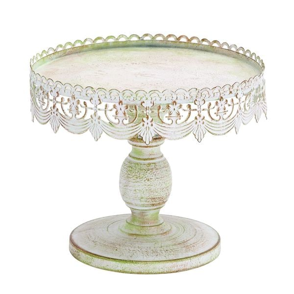 Traditional Lace-look Cake Stand - White