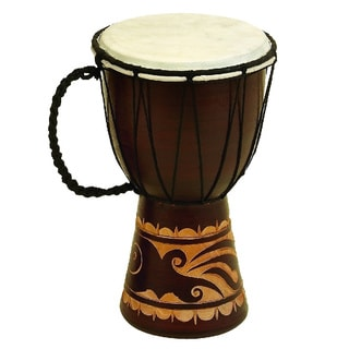 Wood Leather Djembe Toca Drum