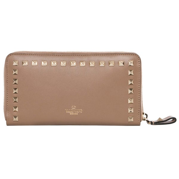 Valentino Rockstud Zip-Around Continental Wallet - Free Shipping Today ...
