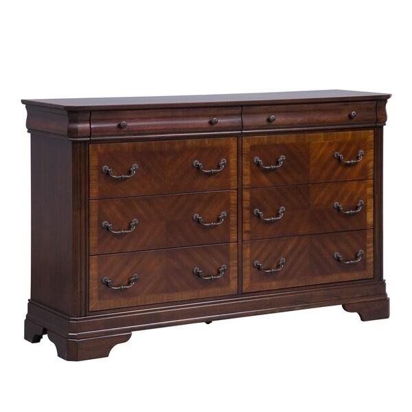 Alexandria Autumn Brown 8-drawer Dresser