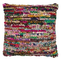 LR Home Motley Chindi Multi Stripe Floor Pillow 26 inch