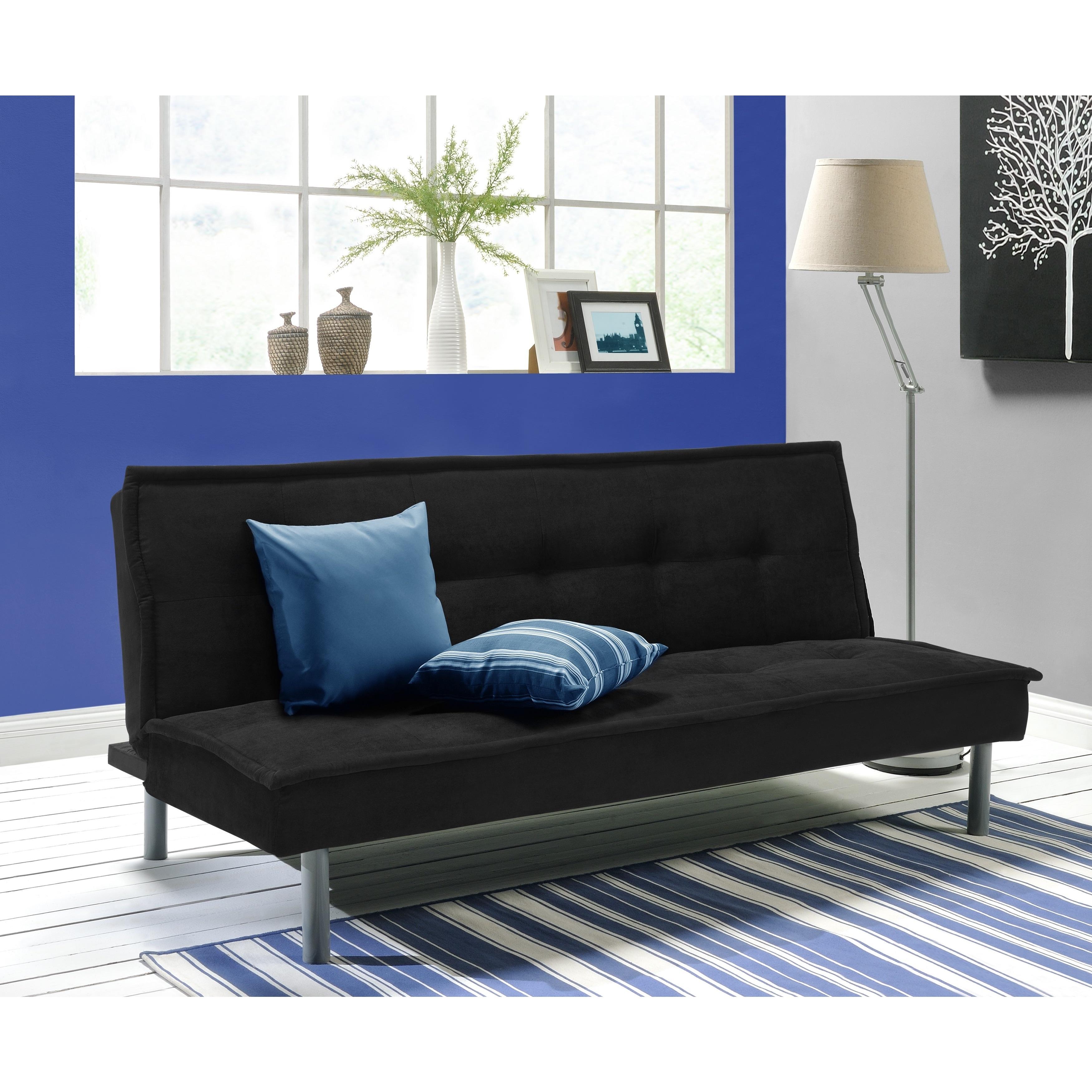 DHP Kent Futon Sofa Bed (Black)