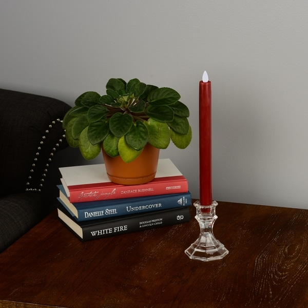 Boston Warehouse Mystique Flameless 10-inch Ivory Taper Candle
