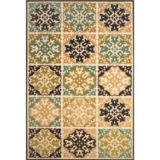 Grand Bazaar Power Loomed Polypropylene Uttur Rug in Sand / Brown 5' X 7'-6""