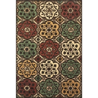 Grand Bazaar Power Loomed Polypropylene Uttur Rug in Tan/Brown 5' X 7'-6""