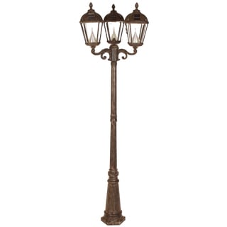 Gama Sonic GS-98T Weathered Bronze Post Royal 3-light Solar Lamp with 7 Bright-white LEDs