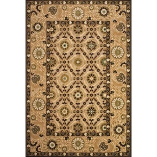 Grand Bazaar Power Loomed Polypropylene Adela Rug in Tan/Brown 5' X 7'-6""
