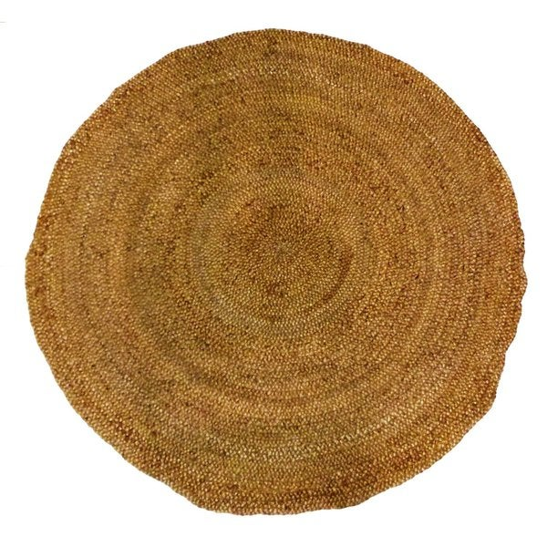Shop Celebration Jute 6 Foot Braided Hand Woven Round Rug