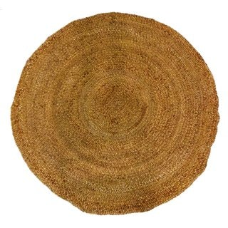 Celebration Jute 6-foot Braided Hand Woven Round Rug