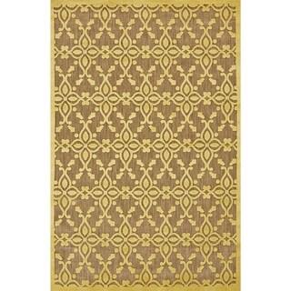 """Grand Bazaar Power Loomed Polypropylene Mollia Rug in Tan / Yellow 5' X 7'-6"""""""