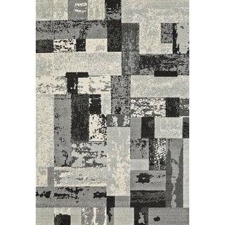 Grand Bazaar Power Loomed Polypropylene Perry Rug in Slate 5' x 8'