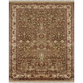 Grand Bazaar Tufted Wool Pile Alegra Rug in Light Brown/ Beige (5' x 8')