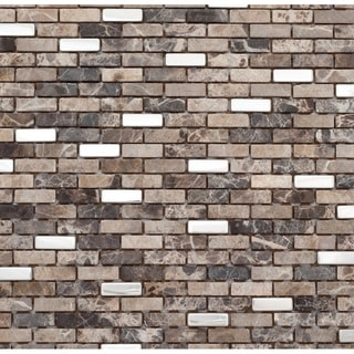 Martini Mosaic Muro Roman Stone 12x12 Tile Sheets (Set of 6)