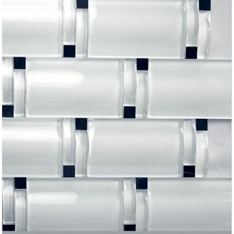 Martini Mosaic Crystal Ice Maree Tile (Set of 5)