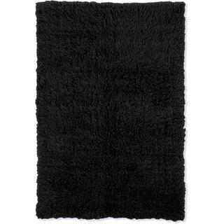 Linon Flokati Super Heavy Black Area Rug (7' x 10') - 7' x 10'