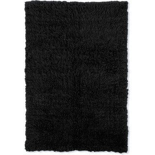 Linon Flokati Super Heavy Black Area Rug (7' x 10')