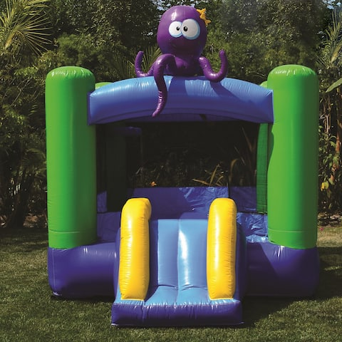 JumpOrange Lil Kiddo Octopus Inflatable Bounce House, Commercial PVC Vinyl, with Blower