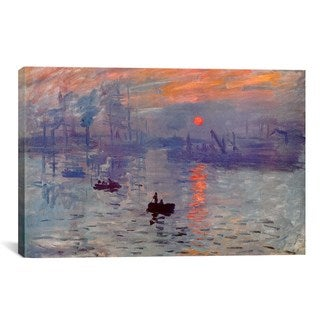 iCanvas Sunrise Impression  by Claude Monet Canvas Print Wall Art