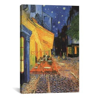 iCanvas The Cafe Terrace on the Place du ForumArles, at Night  by Vincent van Gogh Canvas Print Wall Art