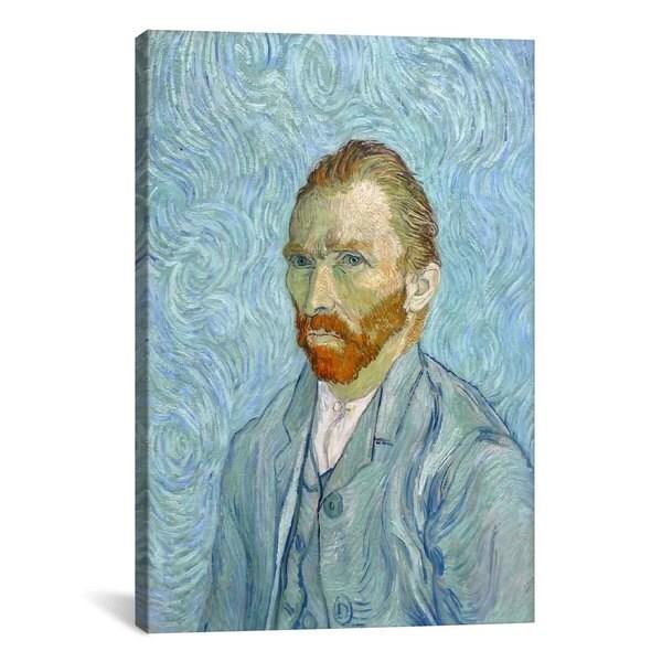 iCanvas Van Gogh Self Portrait St Remy by Vincent van Gogh Canvas Print Wall Art