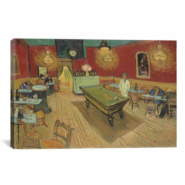 iCanvas The Night Cafe by Vincent van Gogh Canvas Print Wall Art