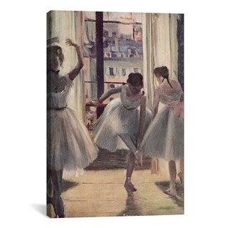 iCanvas Drei Tanzerinnen in Einem Ubungssaal by Edgar Degas Canvas Print Wall Art