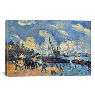 iCanvas Seine At Bercy  by Paul Cezanne Canvas Print Wall Art