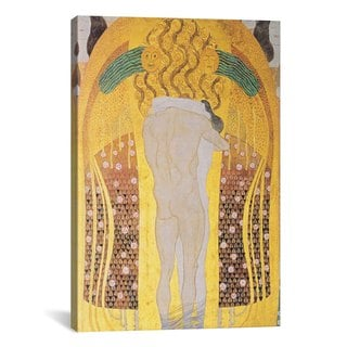 iCanvas Diesen Kuss der ganzen Welt by Gustav Klimt Canvas Print Wall Art