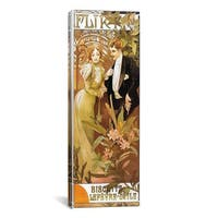 iCanvas ART Alphonse Mucha Flirt' Biscuits by 'Lefevre-Utile' 1899 Canvas Print Wall Art
