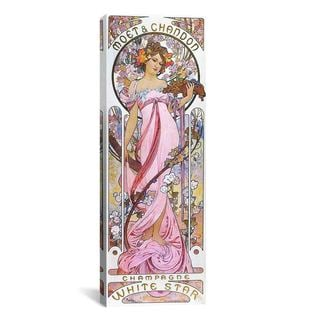 iCanvas ART Alphonse Mucha Moet & Chandon White Star 1899 Canvas Print Wall Art