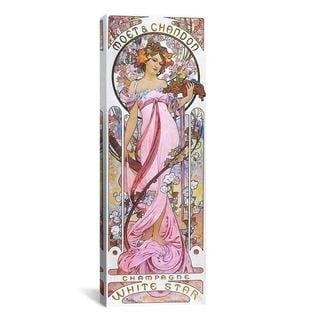 iCanvas ART Alphonse Mucha Moët & Chandon White Star 1899 Canvas Print Wall Art