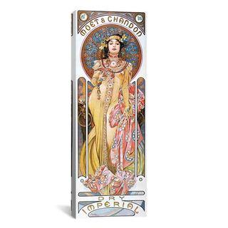 iCanvas ART Alphonse Mucha Moet & Chandon Dry Imperial 1899 Canvas Print Wall Art
