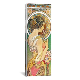 iCanvas ART Alphonse Mucha Polyanthus, 1899 Canvas Print Wall Art
