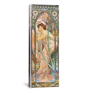 iCanvas ART Alphonse Mucha Evening Reverie, 1899 Canvas Print Wall Art