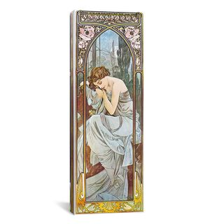 iCanvas ART Alphonse Mucha Nocturnal Slumber, 1899 Canvas Print Wall Art