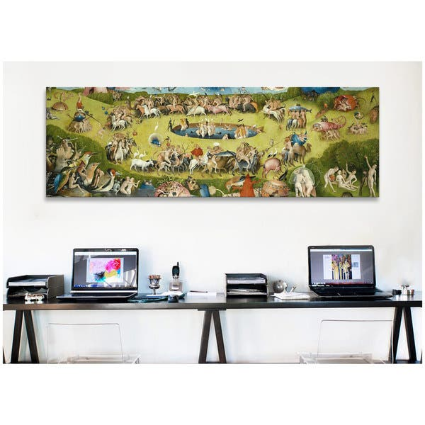 Icanvas Art Hieronymus Bosch Top Of Central Panel From The Garden Of Earthly Delights Canvas Print Wall Art Overstock 9120169