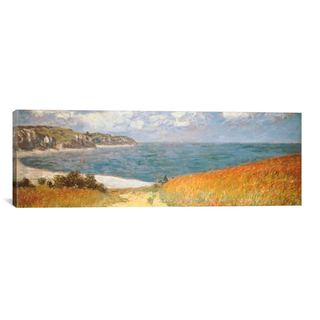 iCanvas ART Claude Monet Path Through The Corn At Pourville Canvas Print Wall Art