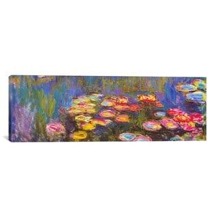 iCanvas ART Claude Monet Water Lilies Canvas Print Wall Art