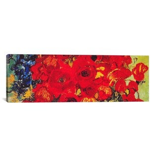 iCanvas ART Vincent van Gogh Vase with Daisies & Poppies Canvas Print Wall Art