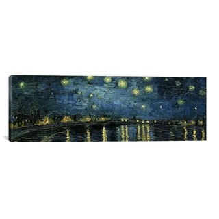iCanvas ART Vincent van Gogh Starry Night Over The Rhone Canvas Print Wall Art